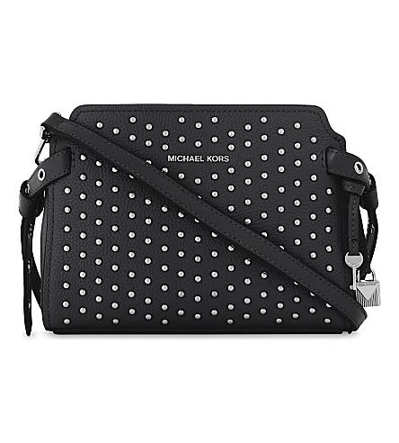 1164a813cd1 MICHAEL MICHAEL KORS Bristol studded leather messenger bag (Black