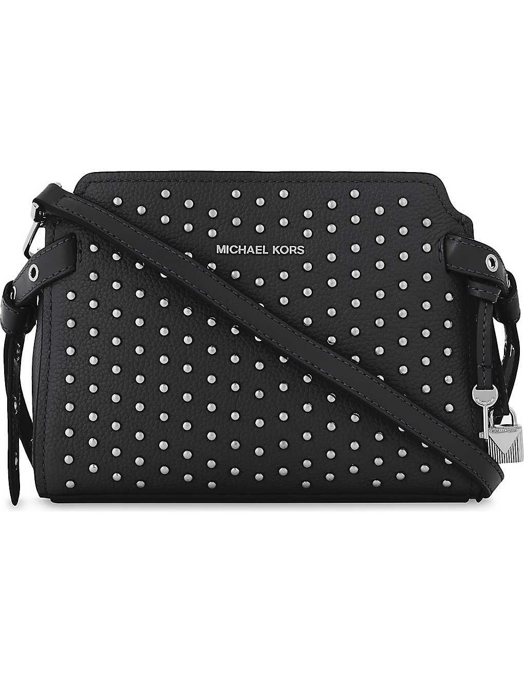 0e2a1173e963fe MICHAEL MICHAEL KORS - Bristol studded leather messenger bag ...