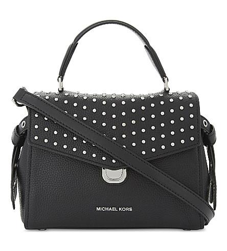 9fc1f5552f718 ... MICHAEL MICHAEL KORS Bristol studded leather satchel bag (Black.  PreviousNext