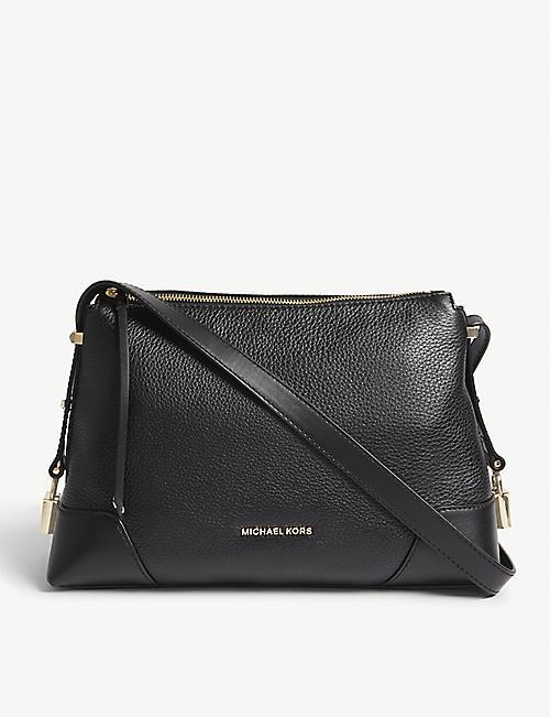 edb22c9edc05f MICHAEL MICHAEL KORS Crosby leather medium messenger bag