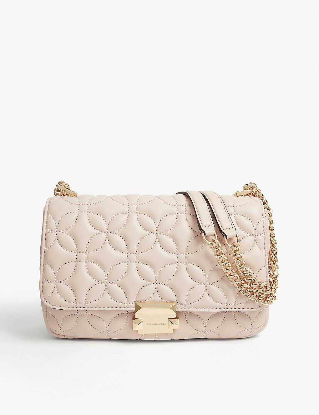 f0cbd974366a MICHAEL MICHAEL KORS - Sloan floral-embossed leather shoulder bag ...