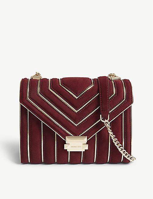 b699245ddd28 MICHAEL MICHAEL KORS Whitney large suede shoulder bag