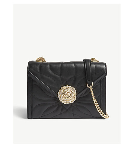 53b4815a26a23 MICHAEL MICHAEL KORS Whitney leather petal quilted shoulder bag (Black