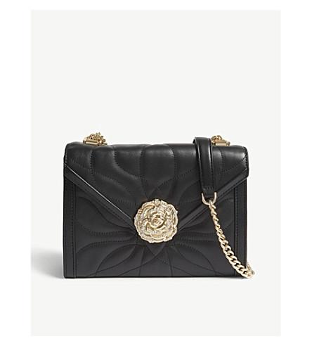905e2671e71f MICHAEL MICHAEL KORS Whitney leather petal quilted shoulder bag (Black