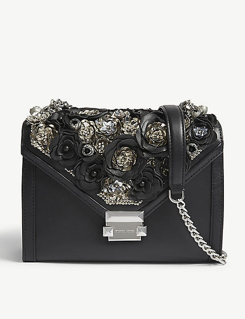 7a302c60758e4 MICHAEL MICHAEL KORS Whitney leather floral shoulder bag