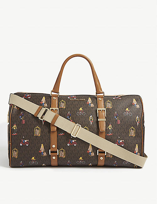 MICHAEL MICHAEL KORS Bedford Jet Set Girls Print coated canvas duffle bag