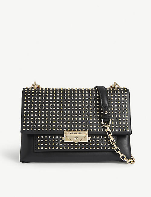 MICHAEL MICHAEL KORS Cece crystal studded leather shoulder bag