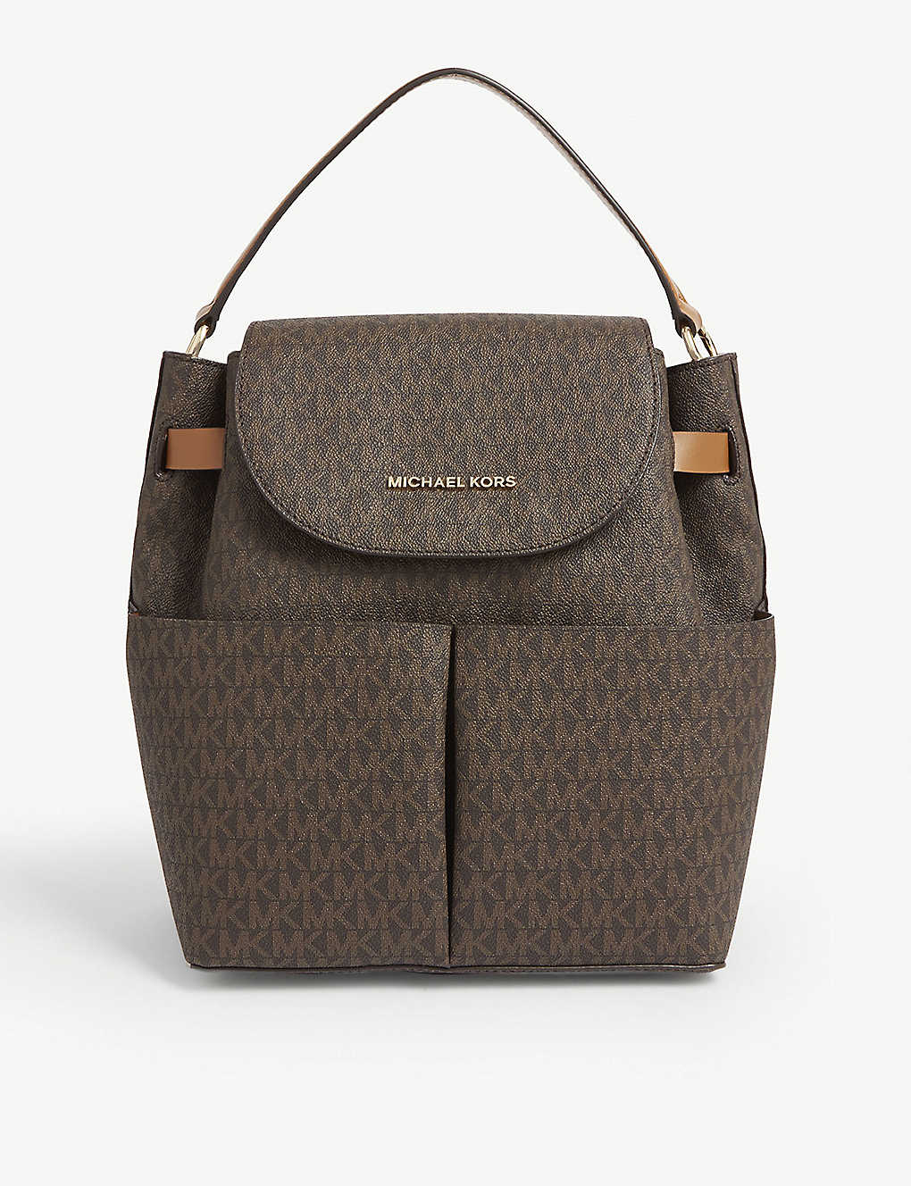 MICHAEL MICHAEL KORS: Bedford pebbled leather backpack