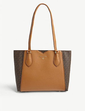 MICHAEL MICHAEL KORS Mae monogram leather tote