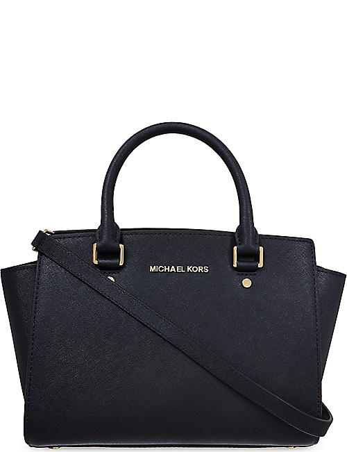 MICHAEL MICHAEL KORS Selma medium Saffiano leather satchel 7b6c0798ab6bd