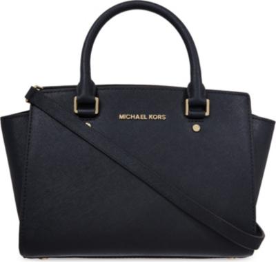 40b2b5e4c36cf7 MICHAEL MICHAEL KORS - Selma medium Saffiano leather satchel |  Selfridges.com