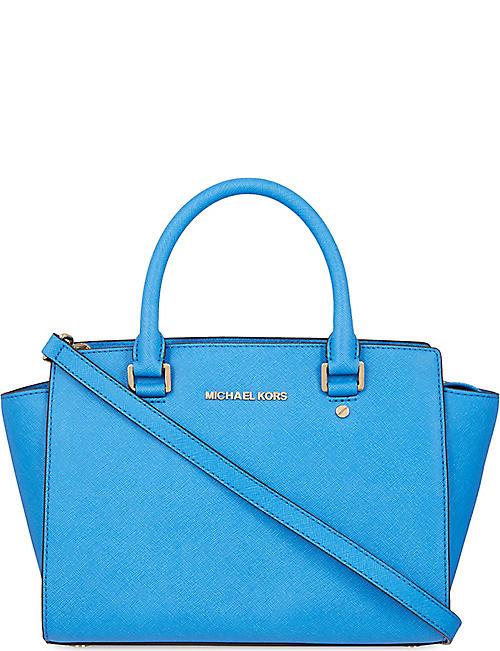 5fac6d27e2dc MICHAEL MICHAEL KORS Selma medium Saffiano leather satchel