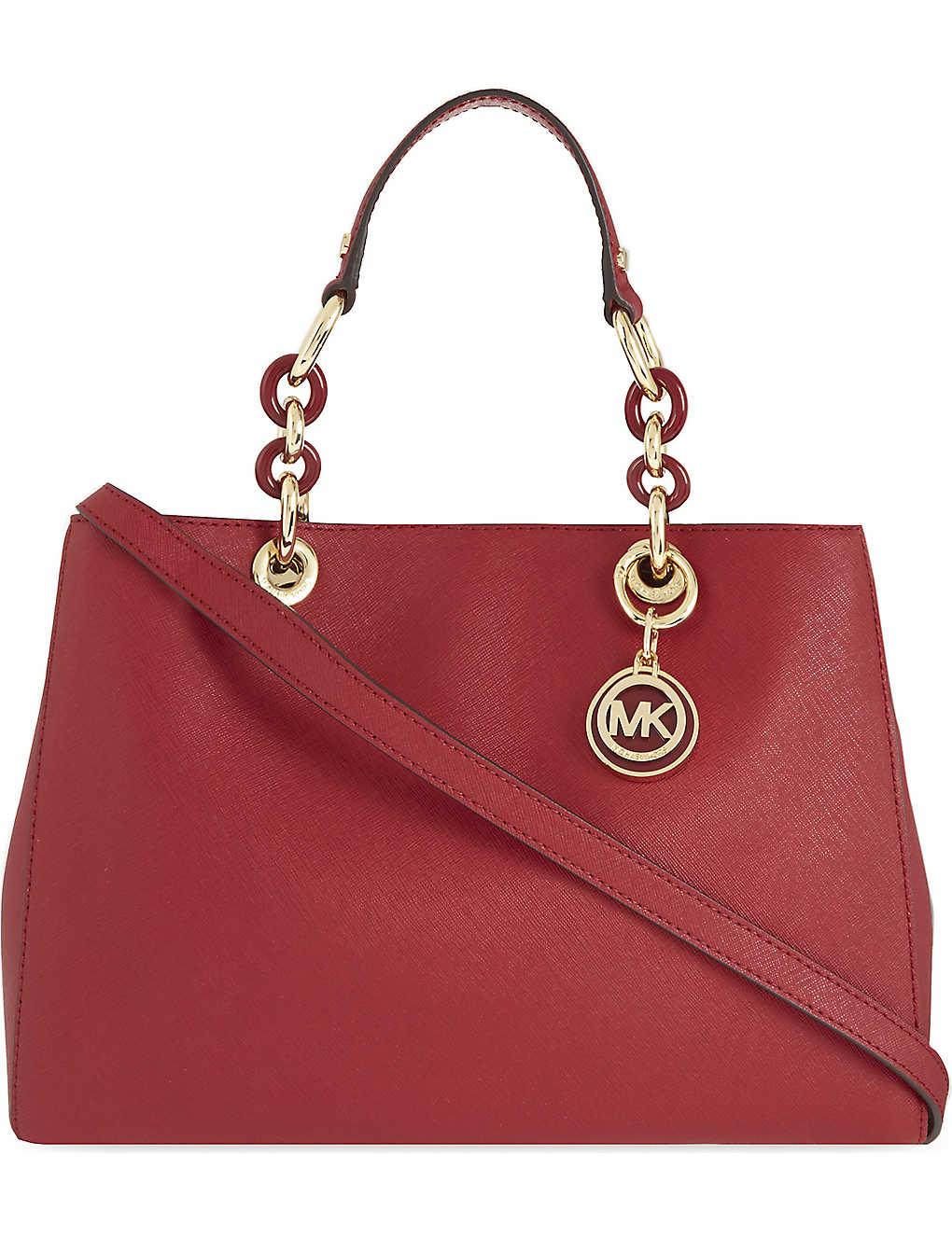 525c722802fd7 MICHAEL MICHAEL KORS - Cynthia medium Saffiano leather satchel ...