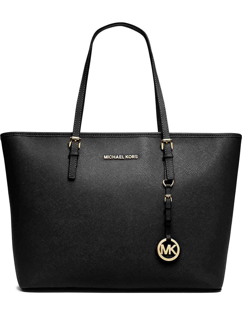 864184ec827 MICHAEL MICHAEL KORS - Jet Set Travel medium saffiano leather tote ...