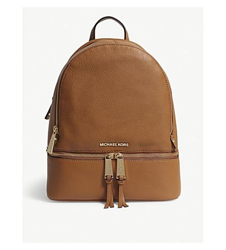 c6075576da44 MICHAEL MICHAEL KORS Rhea medium pebbled leather backpack (Acorn