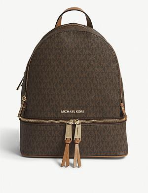 d5bc61a2bf8c MICHAEL MICHAEL KORS - Rhea medium leather backpack | Selfridges.com