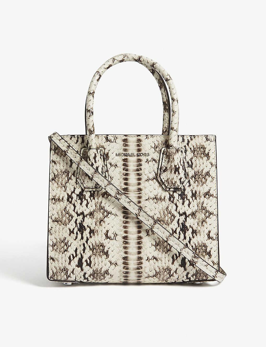 8c766326aa5f MICHAEL MICHAEL KORS Mercer medium snakeskin-embossed leather cross-body bag