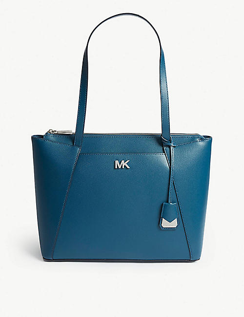 72460ab6a78b MICHAEL MICHAEL KORS - Maddie medium grosgrain leather tote | Selfridges.com