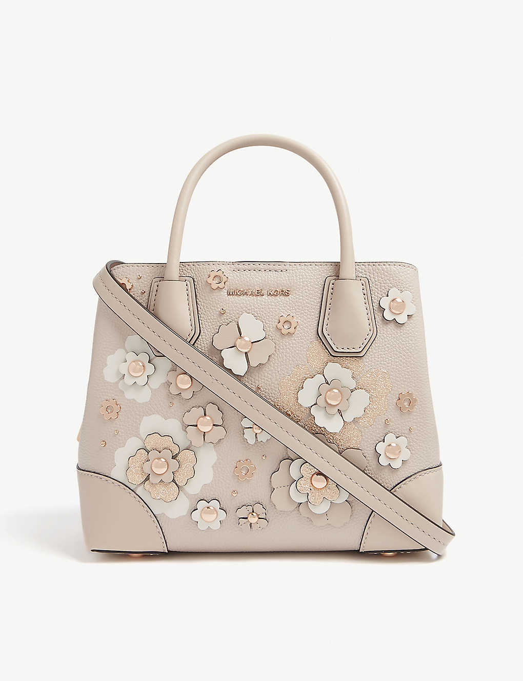 062ad6e3308e1c MICHAEL MICHAEL KORS - Mercer floral embellished leather tote ...