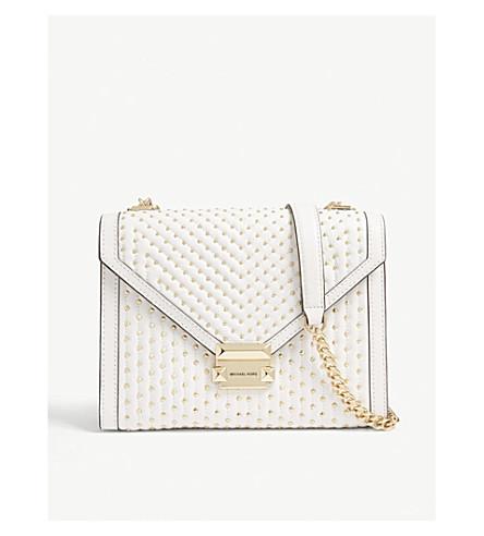 f7b4a83b4ad9 MICHAEL MICHAEL KORS Whitney studded leather shoulder bag (Optic+white