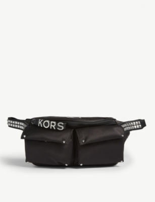 MICHAEL MICHAEL KORS Olivia studded nylon belt bag