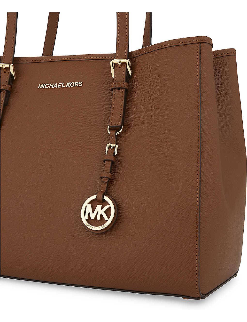 76b13cb50c1e21 MICHAEL MICHAEL KORS - Jet Set Travel large leather tote ...
