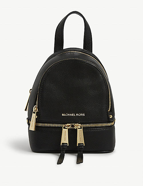 424b8381d6e87c ... reduced michael michael kors rhea extra small leather backpack. quick  view wish list c43da 9fcc8