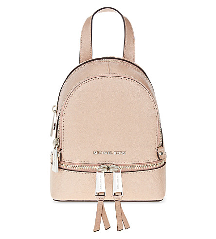 d9a13f0a65db Michael Michael Kors Rhea Extra-Small Leather Backpack In Ballet ...