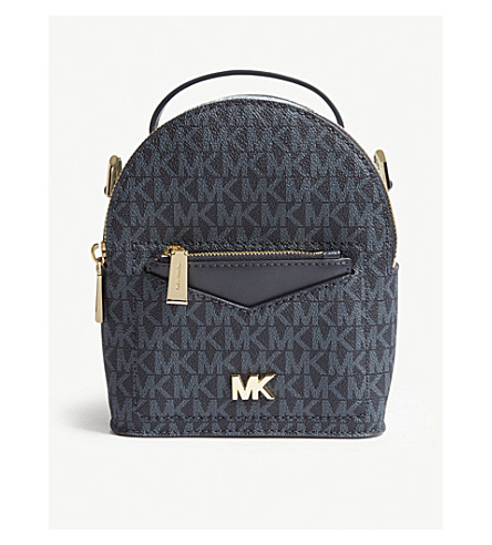 781ee6a749b6 MICHAEL MICHAEL KORS Jessa extra small leather cross-body backpack  (Admrl plblue