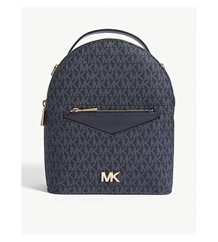 ... MICHAEL MICHAEL KORS Jessa small leather cross-body backpack  (Admrl plblue. PreviousNext 824e6c1bff6b9
