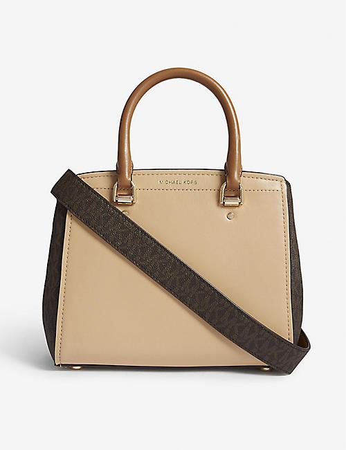 091f5cb1f666 MICHAEL MICHAEL KORS - Benning medium leather messenger bag ...