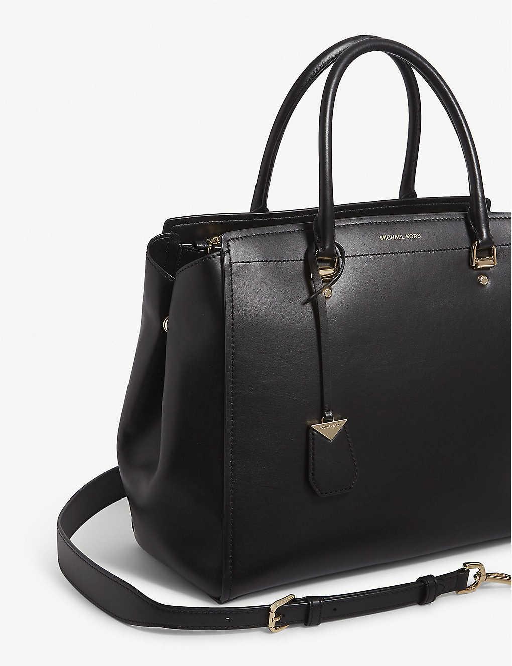 abf5d228f MICHAEL MICHAEL KORS - Benning extra large leather satchel ...