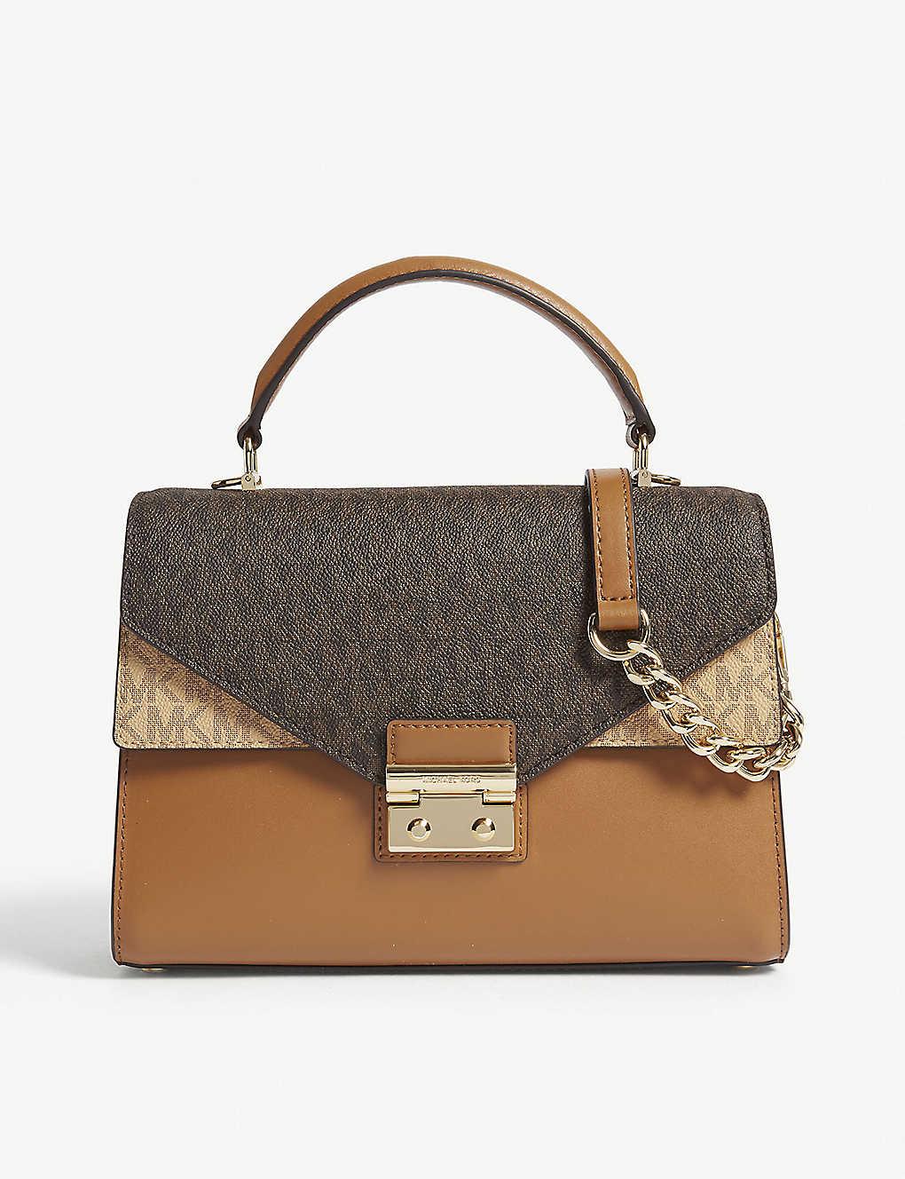 3fd97dbd898d MICHAEL MICHAEL KORS - Sloan logo medium leather satchel bag ...