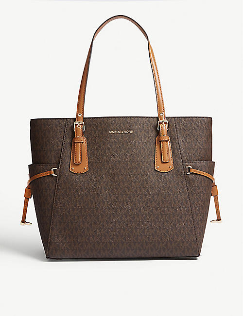 MICHAEL MICHAEL KORS: Voyager small coated canvas tote