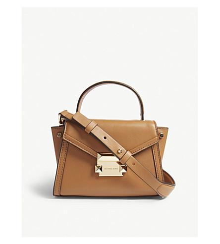 MICHAEL MICHAEL KORS Whitney mini leather shoulder bag (Acorn 090c4ea414d53