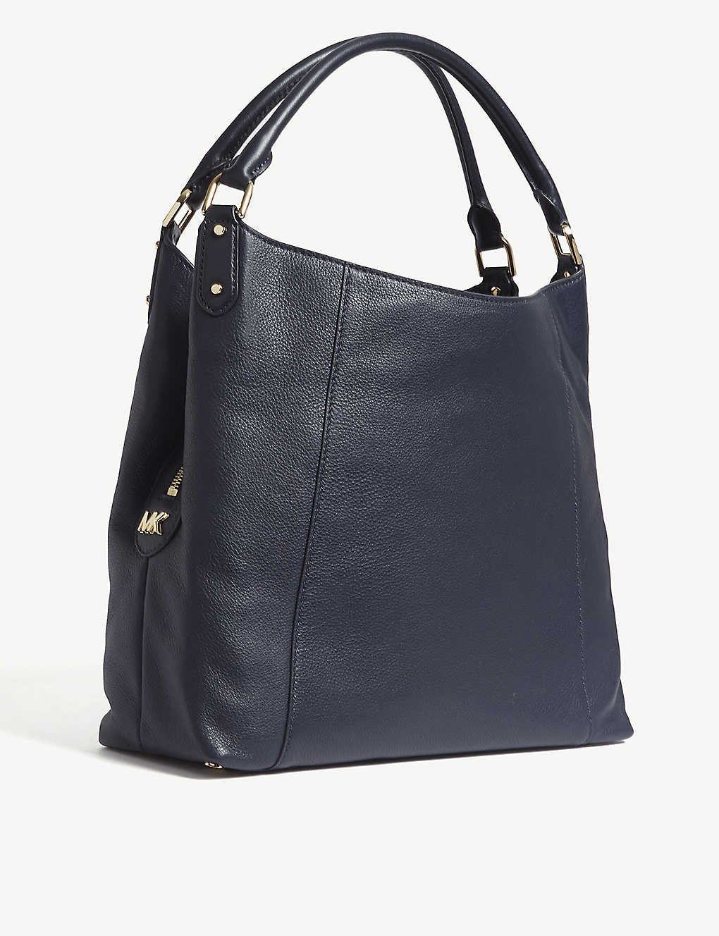 Evie Large Leather Shoulder Bag Black