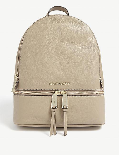 MICHAEL MICHAEL KORS Rhea medium leather backpack 57c98a9d08b97