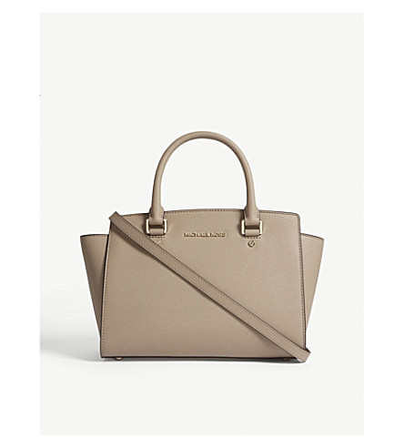 MICHAEL MICHAEL KORS Selma Saffiano leather tote (Truffle 91da5f2674464