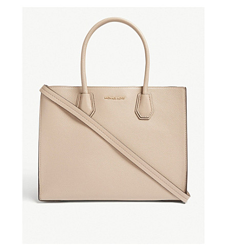 898ee42bbd02 MICHAEL MICHAEL KORS Mercer large grained leather tote bag (Truffle
