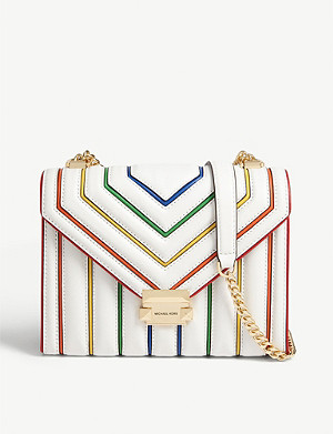 MICHAEL MICHAEL KORS Whitney rainbow trim large leather shoulder bag