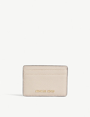 MICHAEL MICHAEL KORS Pebbled leather card holder