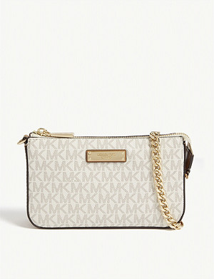 MICHAEL MICHAEL KORS Logo coated canvas pouch