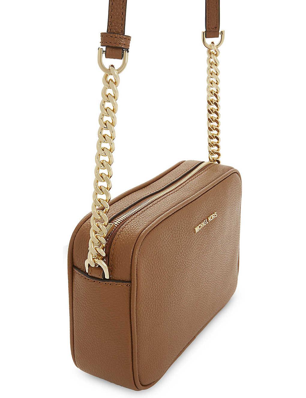 30f4d5419205 MICHAEL MICHAEL KORS - Ginny leather cross-body bag   Selfridges.com