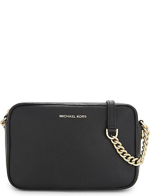 MICHAEL MICHAEL KORS: Ginny leather cross-body bag