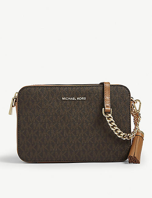 f0f1c466560a3 MICHAEL MICHAEL KORS Ginny monogram print cross-body bag