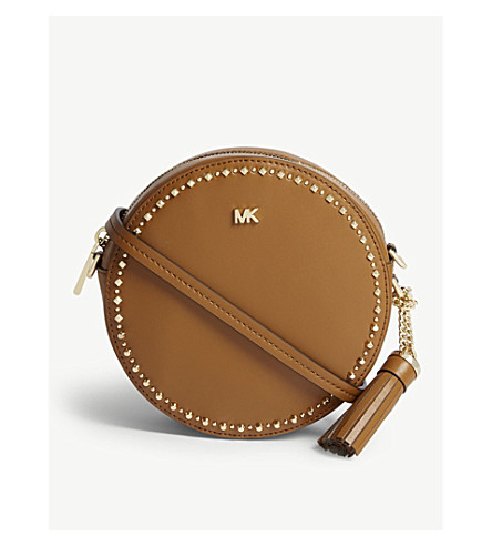 ... MICHAEL MICHAEL KORS Canteen studded leather cross-body bag (Acorn.  PreviousNext 9f93353fc3304
