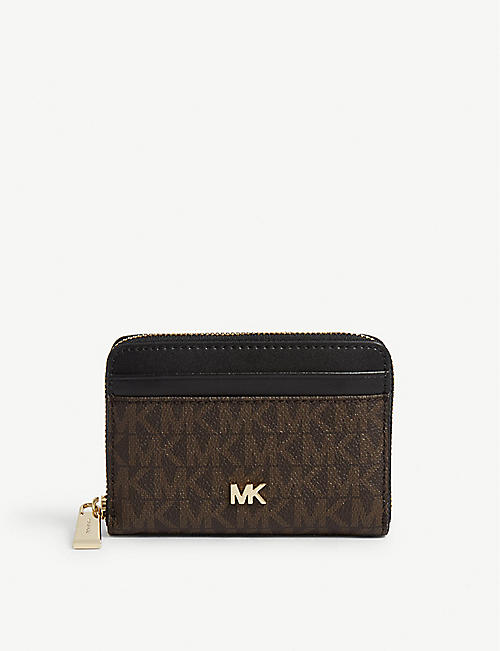 MICHAEL MICHAEL KORS Jet Set saffiano leather cross-body bag.  194.00. MICHAEL  MICHAEL KORS Mini wallet e51d1197e6d31