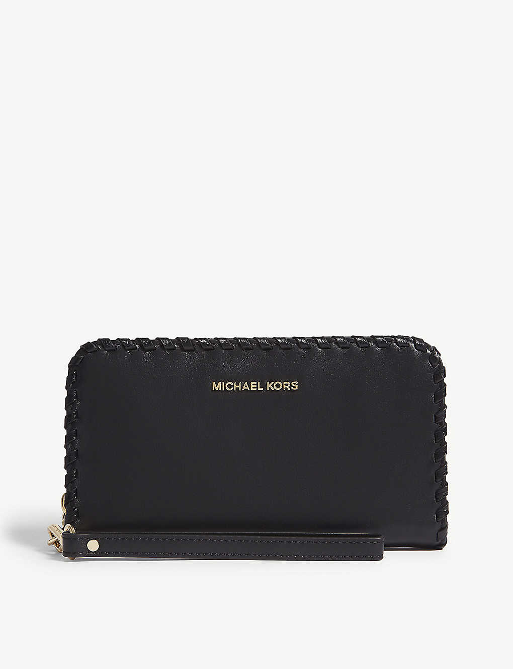04a5f602f1e2 MICHAEL MICHAEL KORS - Whipstitch leather wristlet wallet ...