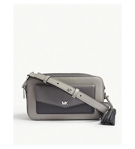 20d0931233c8 MICHAEL MICHAEL KORS Leather small cross-body camera bag (Pgr lngr chr