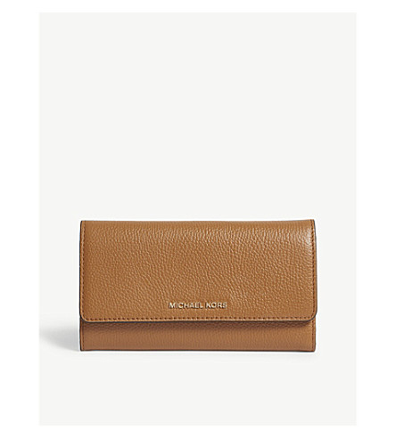672980bc6c55 MICHAEL MICHAEL KORS Money Pieces grained leather trifold wallet (Acorn